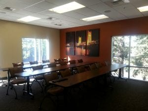 meeting room decor and size
