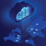 cloud global connectivity icon
