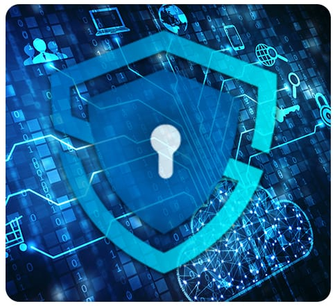 total secure technology networking cloud protection icon